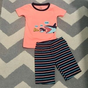 Boys NWT Target short sleeve top fleece pants bottoms Pajama Set dinosaurs 12//14